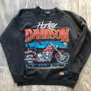 VTG 80s Harley-Davidson Softail Sweatshirt